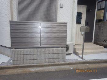 板橋区 T様邸 目隠し用フェンス・ポスト取り付けリフォーム事例